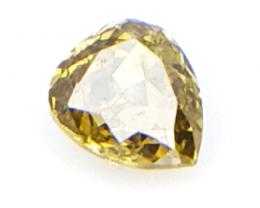 0.12 cts , Natural Colored Diamond , Teardrop Diamond