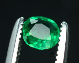 Emerald Superb Color 0.35 Ct Natural Emerald From Panjsher Emerald