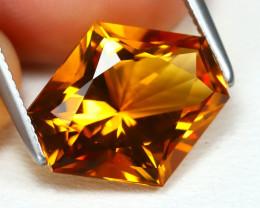Madeira Citrine 3.77Ct VVS Fancy Cut Natural Orange Citrine B2970