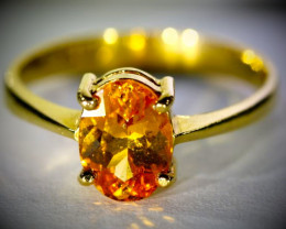 Mandadrin Spessartine 2.34ct Solid 22K Yellow Gold Ring