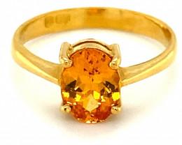 Mandarin Spessartine 2.34ct Solid 22K Yellow Gold Ring