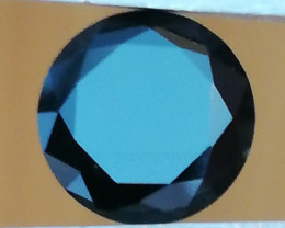 Sapphire, 7.55CT, dark blue-greenish, brilliant cut stone
