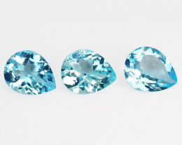 10.65 Cts 3 Pcs Blue Natural Topaz Gemstones
