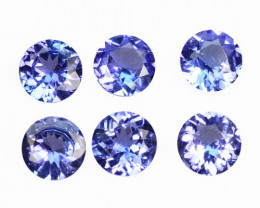 2.17 Cts 6 pcs Amazing rare Violet Blue Color Natural Tanzanite Gemstone