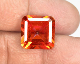 11.50 Cts Rare Fancy Orange Red Color Natural Mystic Topaz