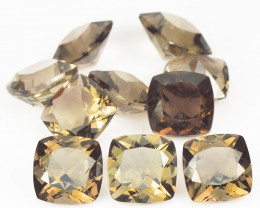 5.09 CTS 10 Pcs Smoky Quartz Natural Gemstones