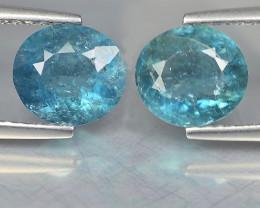 Tourmaline Pair 2 Cts Blue Portuguese Cut BGC1152