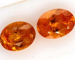 3.9 CTS  SPESSARTITE GARNET FACETED pair  PG-202
