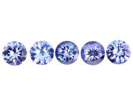 1.90 Cts 5 Pcs Amazing rare Violet Blue Color Natural Tanzanite Gemstone