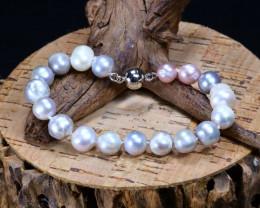 90.05Ct Natural Fresh Water Pearl Beads Bracelet B3351