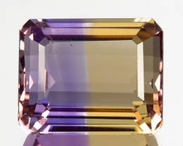 ~EMERALD CUT ~ 4.96 Cts Natural Bi-Color Ametrine Octagon Bolivia
