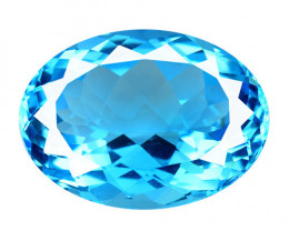 Topaz 30.84 Carat HUGE Super Swiss Blue Natural Gemstone