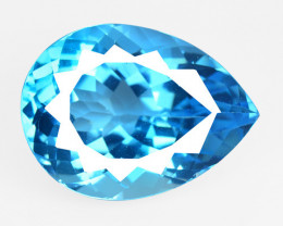 28.88 Carat Super Swiss Blue Natural Topaz Gemstone