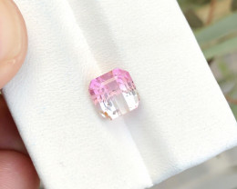 2.55 Ct Natural Bi Color Transparent Tourmaline Ring Size Gemstone