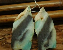 Amazonite nugget earring pairs (G2507)