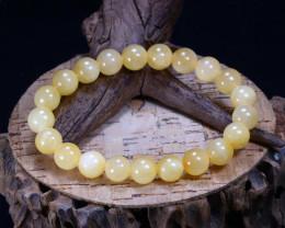 149.90Ct Natural Yellow Calcite Beads Bracelet AB3370