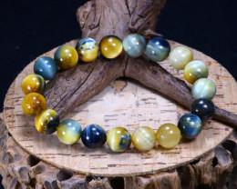 144.75Ct Natural Tiger Eye Beads Bracelet AB3376