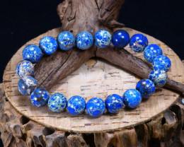 129.40Ct Natural Variscite Beads Bracelet B3380