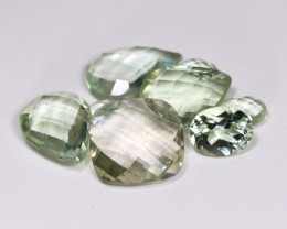 Prasiolite 32.98Ct Pixalated Cut Natural Green Color Amethyst Lot B2603