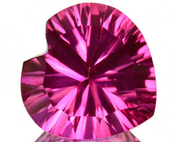 ~PRETTY~ 2.12 Cts Candy Pink Natural Topaz 8mm  Concave Heart Cut Brazil