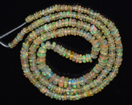27.60 CT Ethiopian Opal Beads Strand 100% Natural and Untreated Gemstone OB
