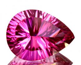 Concave cut 5.91Cts Candy Pink Natural Topaz 14 X 10mm Pear Brazi
