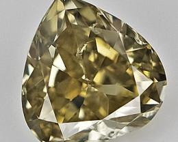 0.10 CTS ,  Teardrop Diamond , Deep Color Diamond