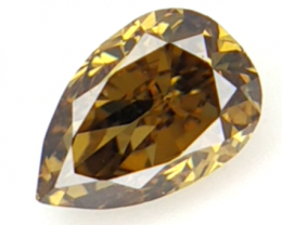 0.14 cts , Pendeloque Brilliant Cut , Natural  Diamond