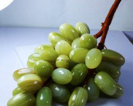 2157 CTs Natural - Unheated Green Onyx Carved Grapes
