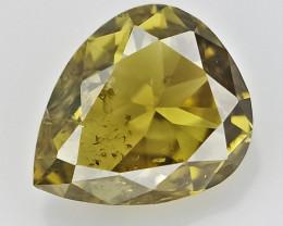 0.12 cts , pendeloque Cut Diamond , Natural Color Diamond