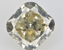0.11 ct , Cushion Brilliant Cut Diamond , Light Colored Diamond