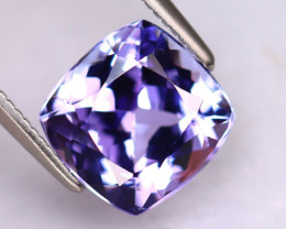 Tanzanite 3.06Ct Natural VVS Purplish Blue Tanzanite DR484/D4