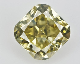 0.11 cts , Cushion Brilliant Cut Diamond , Light Yellow Color Diamond