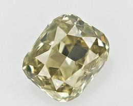 0.10 CTS , Cushion Brilliant Cut , Natural Light Color Diamond