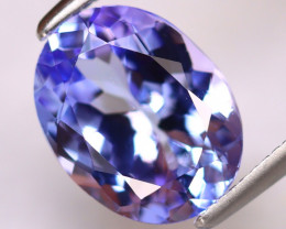 Tanzanite 2.72Ct Natural VVS Purplish Blue Tanzanite DR509/D4