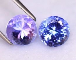 Tanzanite 4.36Ct 2Pcs Natural VVS Purplish Blue Tanzanite DR512/D4