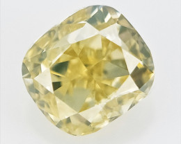 0.11 cts , Natural Cushion Diamond , Natural Light Color Diamond