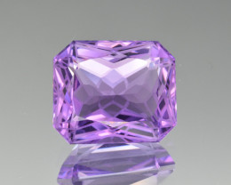 Natural Amethyst 13.12  Cts Precision  Cut, Top Quality Gemstone
