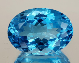 13.65Crt Blue Topaz Natural Gemstones JI29