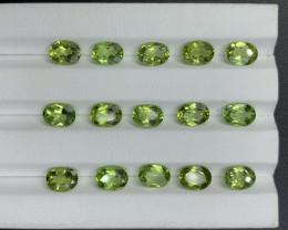 18.74 CT Peridot Gemstones parcel
