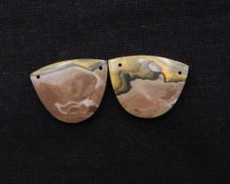 45.5cts Honey Jade Earrings,Handmade Gemstone Earrings H998