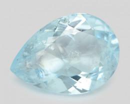 3.92 Cts Un Heated Blue  Natural Aquamarine Loose Gemstone