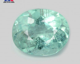 1.10 Cts GIT Certified Oval 7.11x4.11 mm 100% Natural Bluish Green Paraiba