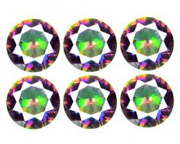 *NoReserve*Mystic Topaz 4.10 Cts 6Pcs Rare Aurora Borealis Color Natural