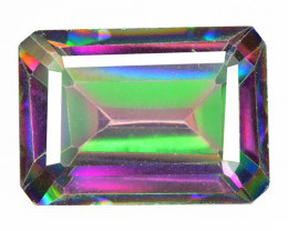 7.68 Cts Rare Fancy Multi Color Natural Mystic Topaz