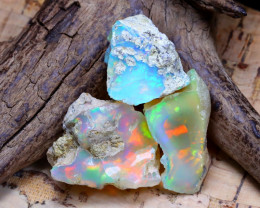 30.75Ct Bright Color Natural Ethiopian Welo Opal Rough B3513