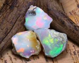 35.45Ct Bright Color Natural Ethiopian Welo Opal Rough B3520