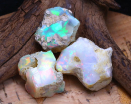 33.95Ct Bright Color Natural Ethiopian Welo Opal Rough B3524