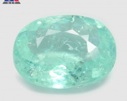 1.79 Cts GIT Certified Oval9.68x3.64 mm 100% Natural Bluish  Green Paraiba