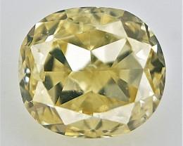 0.10 CTS , Oval Cushion Cut Diamond , Natural Light Color
